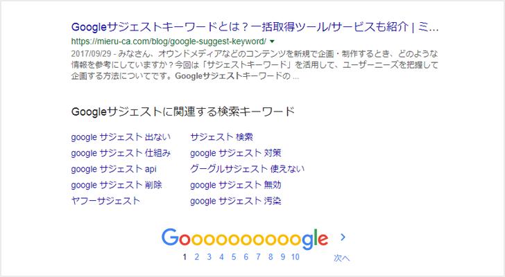 Google関連ワードとは